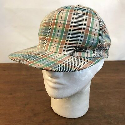RVCA Plaid Beach Bum Snapback Baseball Cap Hat - Bum Hats