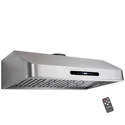 "36"" Under Cabinet Stainless Steel Kitchen Cooking Fan Range Hood Gas Sensor Vent"