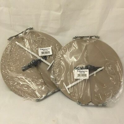 2x Truaire 802-08 Round Butterfly Dampers Duct Hvac