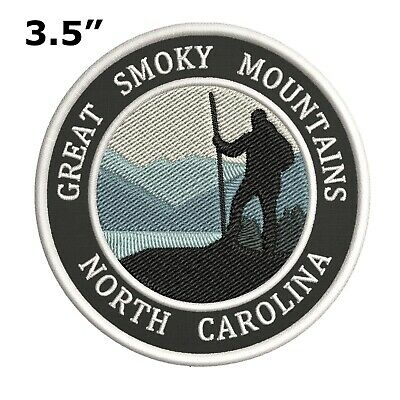 Great Smoky Mountains Embroidered Iron-On / Sew-On Patch Vacation Park Souvenir