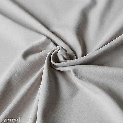 Jersey Stoff Uni MILCHKAFFEE Baumwolljersey Einfarbig Kombistoff T-Shirt Stoff ()