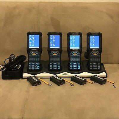 Lot Of 4 Symbol Motorola Mc9090-gf0hbega2wr Windows Ce Barcode Scanner W Extras