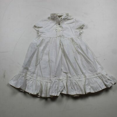 Burberry Baby Girl Whited Pleated Dress Size US 2Y/ 92 cm