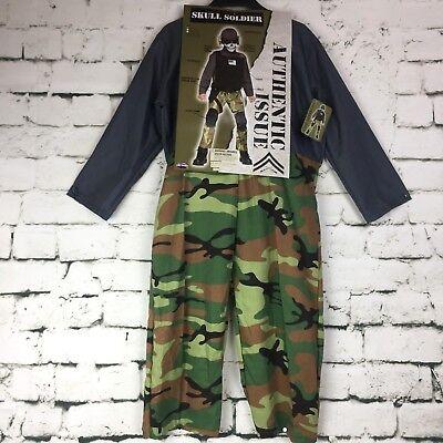 Skull Soldier Small  Military Swat Team Army Camouflage Halloween Child Costume - Swat Team Halloween Costume Kids