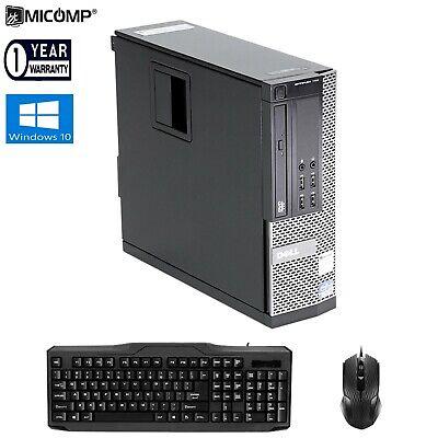Dell Optiplex 980 SFF Desktop Computer PC Dual Core 8GB 250GB HDD DVD Windows 10