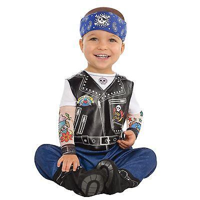 Baby Biker Junge Sohn Gothic Rock Punk Anarchie Kinder Tätowierung - Punk Rock Kostüm Junge