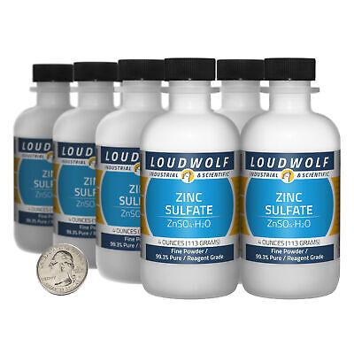 Zinc Sulfate 2 Pounds 8 Bottles 99.3 Pure Reagent Grade Fine Powder
