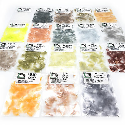 Cdc Oiler Puffs   Hareine Hand Selected Cul De Canard Feathers   Fly Tying New