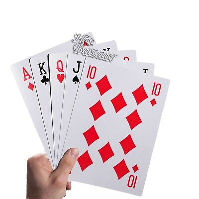 JUMBO PLAYING CARDS GIANT Extra Large Huge 5x7 inch Big Deck Family Play Game - Giant Cards