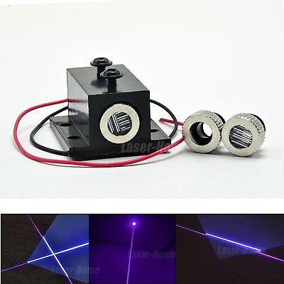 Dotlinecross Focusable 405nm 50mw Violetblue Laser Diode Module W Heatsink