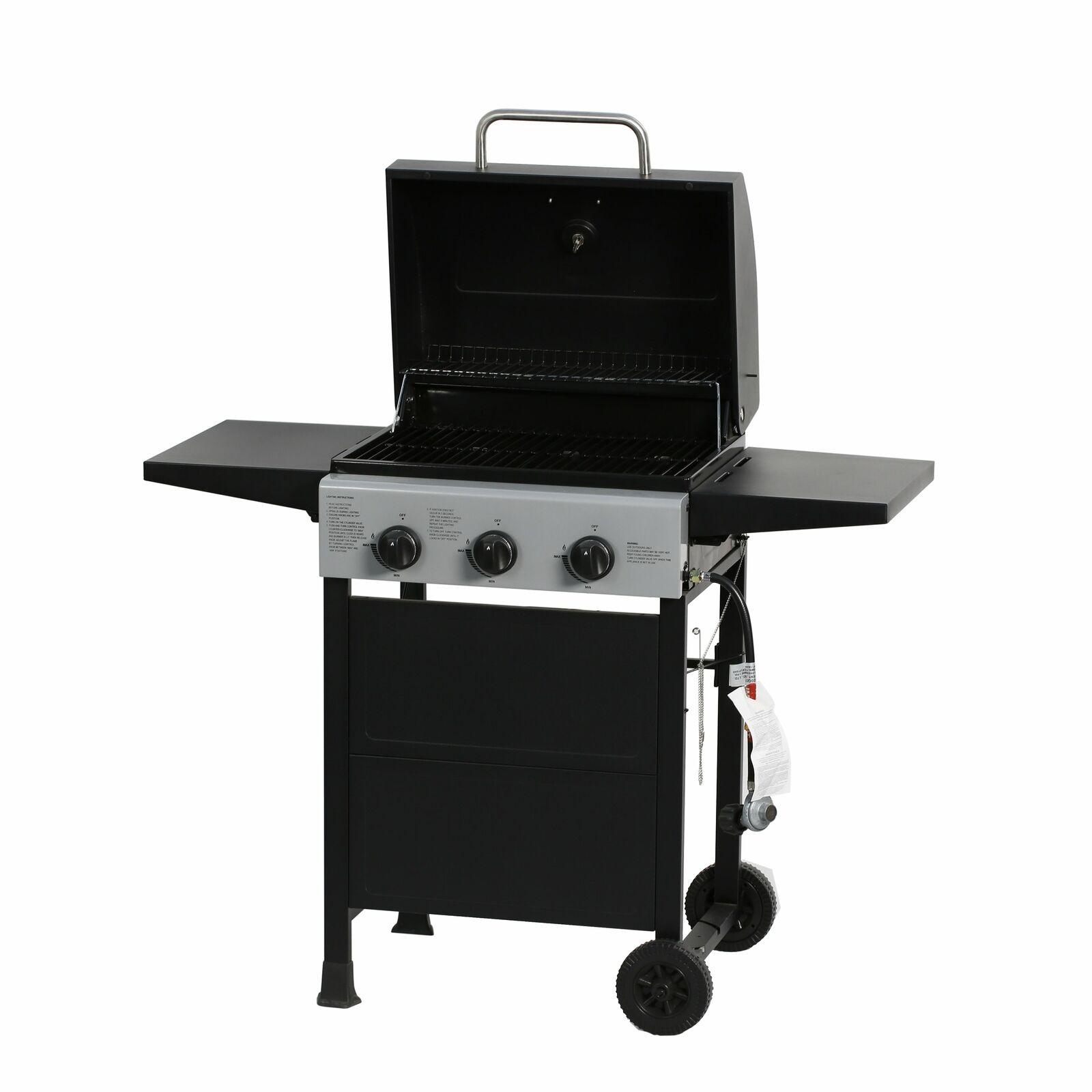 3 Burner Gas Grill  BBQ Garden Patio Stainless Steel Outdoor