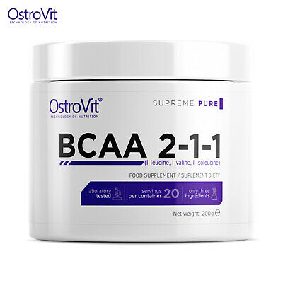 BCAA POWDER 2-1-1 - Amino Acids Muscle Growth & Recovery Anabolic Bodybuilding