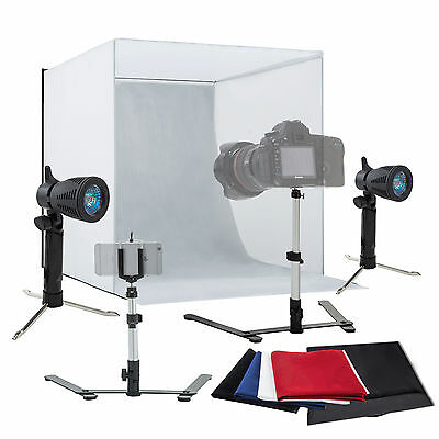 Photo Studio 16  Photography Light Tent Kit Backdrop Cube In A Box Mini Stand