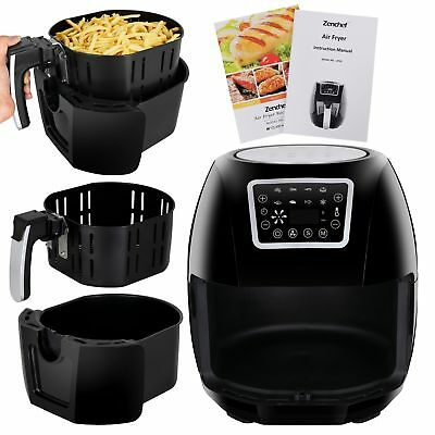1700W Hot Air Fryer Family Size 5.8Qt 8-in-1 Recipe Book...