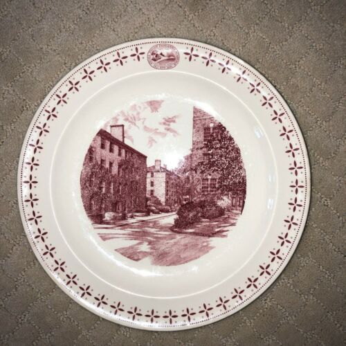"PHILLIPS EXETER ACADEMY PLATE ""Soule, Hoyt & Peabody Halls"" WEDGWOOD, 1956"