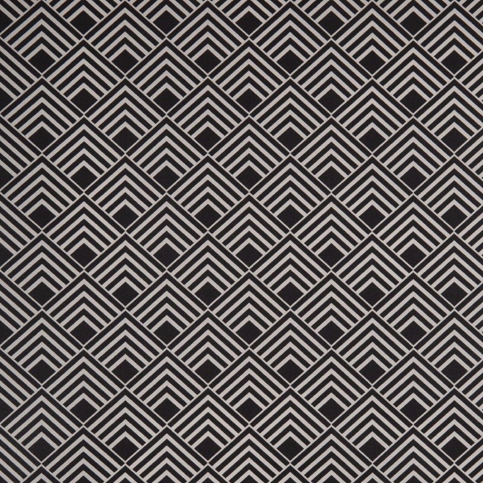 Stoff Baumwolle Swafing Leona beschichtet, Quadrate, schwarz, 150 cm