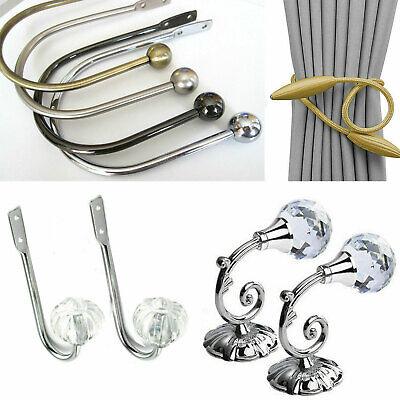2x Retro Curtain Holdback Wall Tie Back Hooks Hanger Holders Decors Hook Gift UK