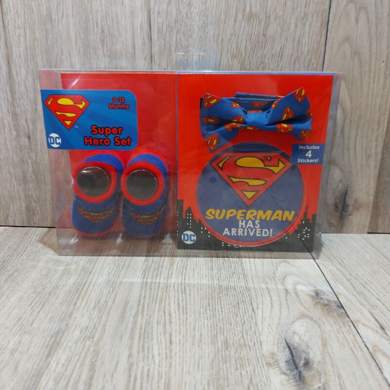 New 0-12 Months Superman Super Hero Boxed Set