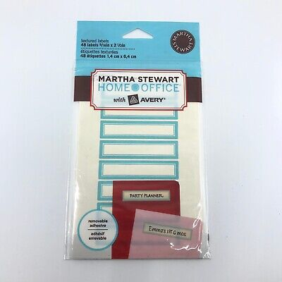 Martha Stewart Home Office With Avery Pack 48 Textured Labels 916 In X 2 12 In