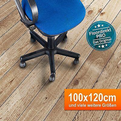 Bodenschutzmatte 100x120cm für Hartböden aus Polycarbonat | Farbe: Transparent