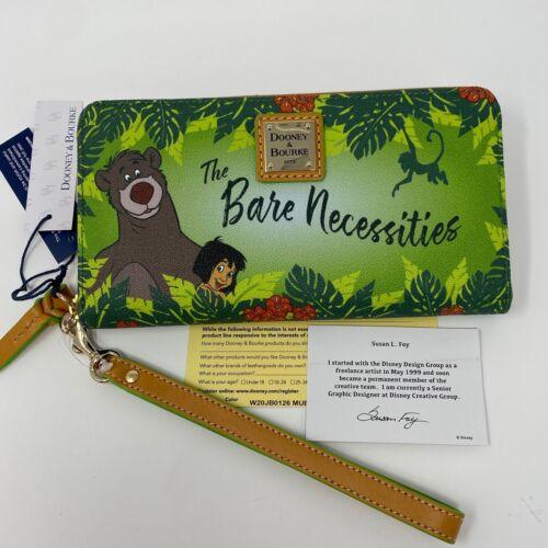 NWT! GENUINE Disney Parks Dooney & Bourke THE JUNGLE BOOK Wallet~Baloo Mowgli C
