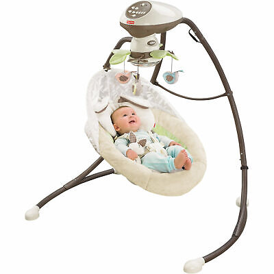 NEW IN BOX Fisher-Price My Little Snugabunny Deluxe Cradle 'n Swing