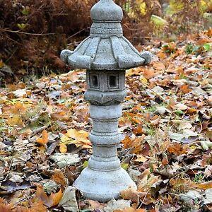 Three Pieces Tall Pagoda Stone Garden Ornament Chinese Japanese Statue Lantern