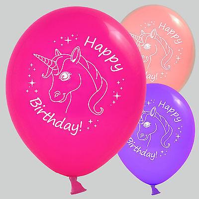 30 / 50 Luftballons Geburtstag Einhorn Happy Birthday für Feier Party Dekoration ()