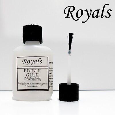 Royals 35ml Bürste Flasche Essbar Glue Ideal für Kuchendekoration Top Glasur