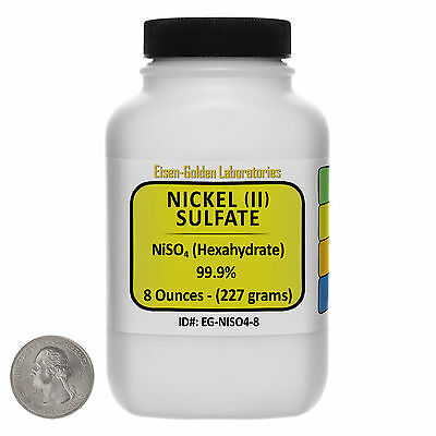 Nickel Sulfate Niso4 99.9 Acs Grade Crystals 8 Oz In A Space-saver Bottle Usa