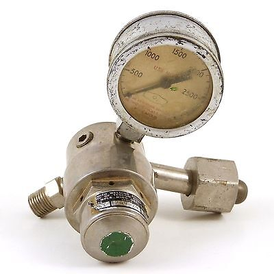Smith Welding Equip. Compressed Gas Regulator 249-243 Oxygen Steampunk