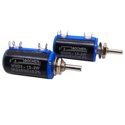Us Stock 2x 1k Ohm Wxd3-13 Rotary Multi-turn Wirewound Precision Potentiometer