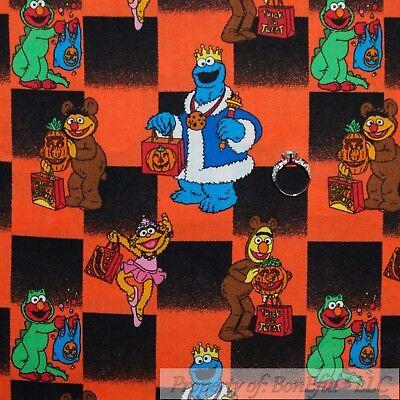 BonEful Fabric FQ Cotton Quilt VTG Halloween Elmo Zoe Sesame Street Ernie Burt L - Zoe Costume Sesame Street