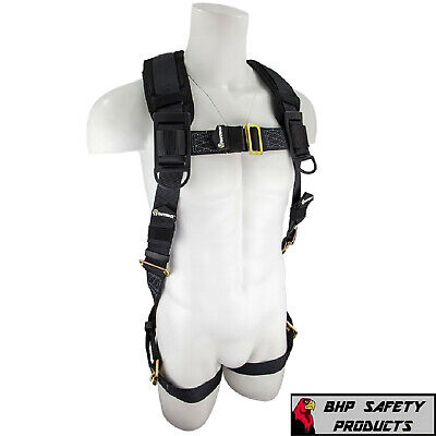 Fall Protection Sw99280-hw Heavyweight Construction Safety Harness Padded 3x4x
