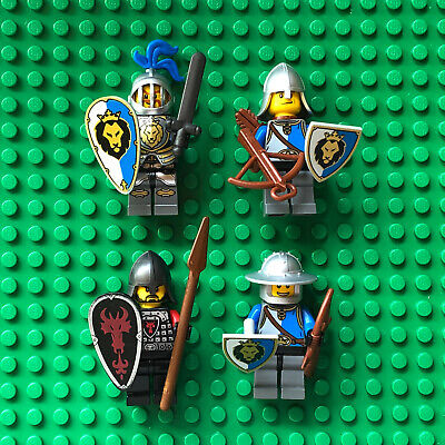 Lego Lot KING'S CASTLE MINIFIGURES Sir Stackabrick Dragon Knight 70404 Shields