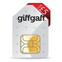 Giffgaff 4g Pay As You Go Sim Card Nanosim Micro Standard Sim 5£ Omaggio Gratis -  - ebay.it