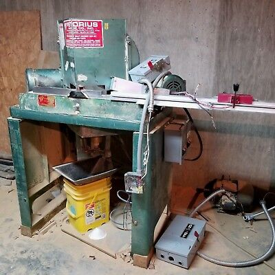 Pistorius Double Miter Saw With 3-phase Motor Switches Wiring Blades Bundle