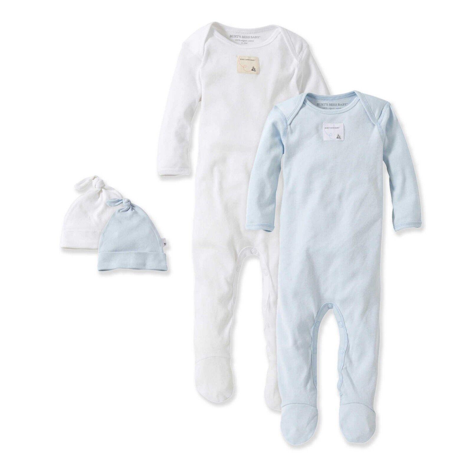 Burt's Bees Baby Organic Cotton Preemie Coverall & Hat Sets: