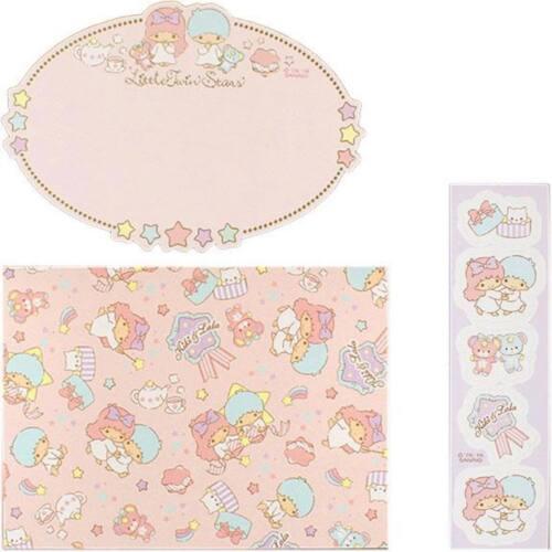 Little Twin Stars Message card set Greeting Kawaii Sanrio Japan New F/S