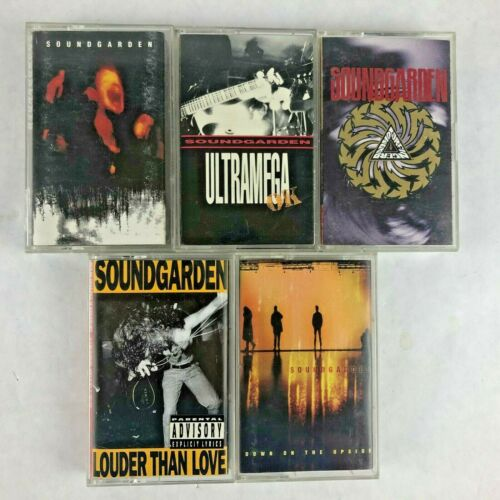 Soundgarden Cassette Tape Lot of 5 Superunknown Badmotorfinger Ultramega OK +