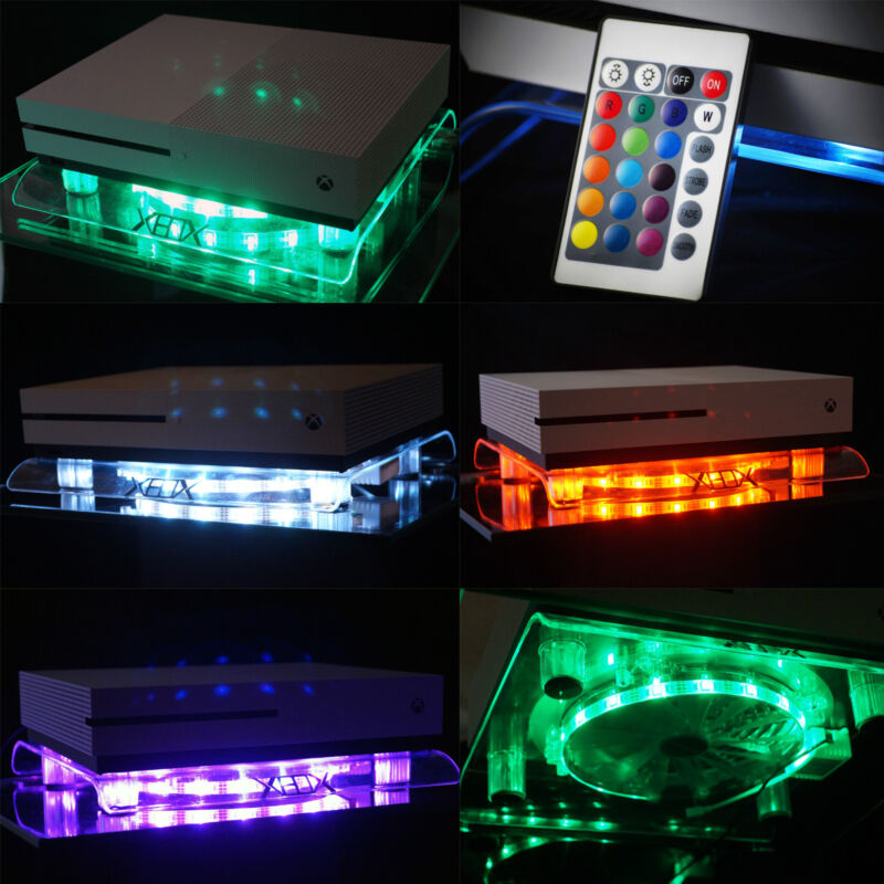 RGB Led USB Design Cooling Fan Fan Stand Xbox One x / S Scorpio Accessories Live