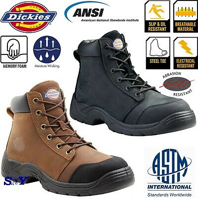 - Steel Toe Electrical Chemical Oil Slip Resistant Work Boots Shoes ASTM Rated dk