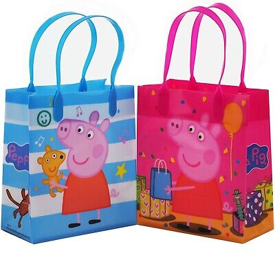 12PCS Peppa Pig Goodie Party Favor Gift Birthday Loot Reusable Bags New! (Peppa Pig Gift Bags)