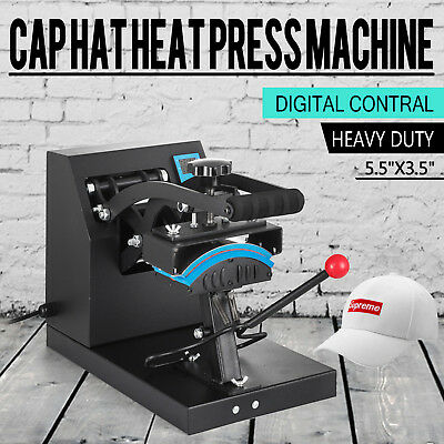 Heat Press Transfer Digital Clamshell 6 X 3.5 Hat Cap Sublimation Machine New