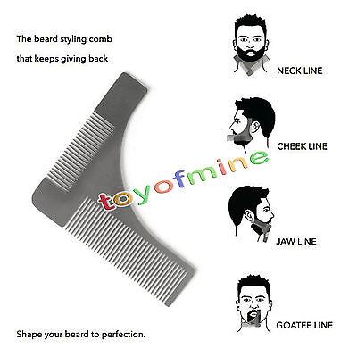 Acciaio Inox Baffi Barba Depilazione Pettine Peli Del Viso Modellante Accessori