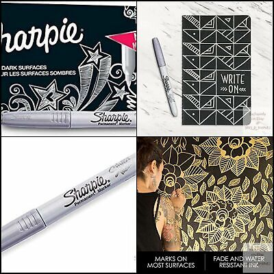 Sharpie Metallic Permanent Silver 12 Count Markers Fine Point