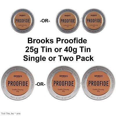 2019 Genuine Brooks Proofide 25g or 40g Leather Bike Saddle / Seat Care Dressing