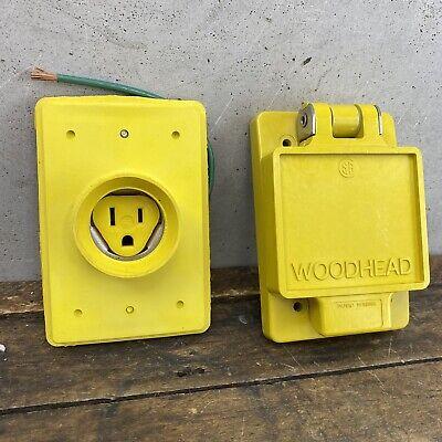 Woodhead 60w47 Watertite Flip Lid Receptacle Fd Box 15a 125v 5-15r A7
