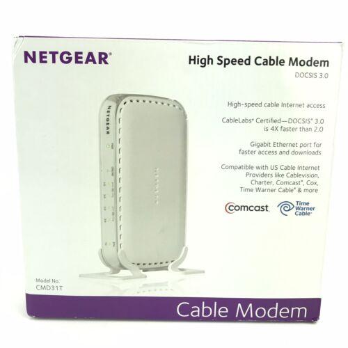 NETGEAR High Speed Cable Modem CMD31T-100NAS Up To150 Mbps Gigabit Ethernet Port - $22.99