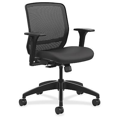Hon Quotient Mid Back Mesh Task Chair   5 Star Base   Black   29 8  Width X
